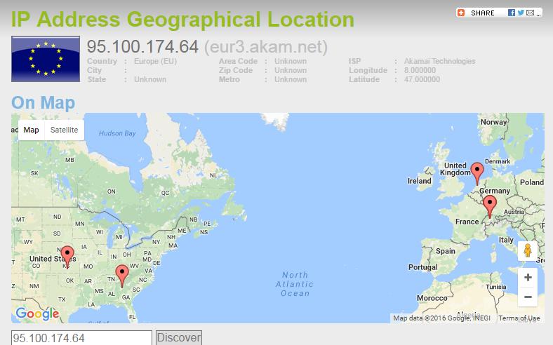 NSA.gov Geolocation based on IP